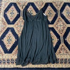 Lace & Dot Mesh Slip dress
